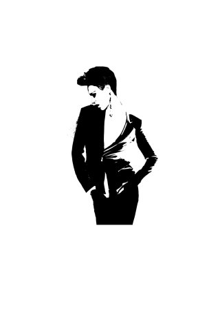 Woman in black blazer illustration by Judith Van Den Hoek