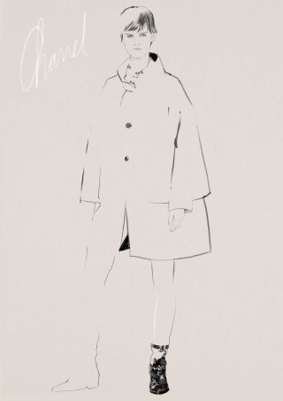 Fashion illustration for chanel coat