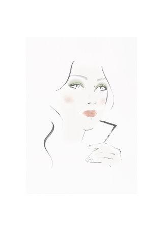 Burberry face chart illustration by Judith Van Den Hoek