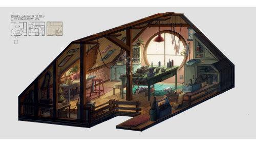 房子内部视图图