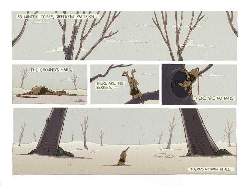 在树下的鼠标儿童图画书