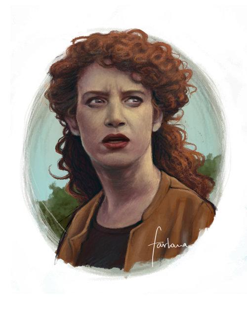 卷发的女人的画像