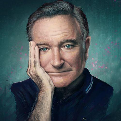 Portrait art of Robin Williams