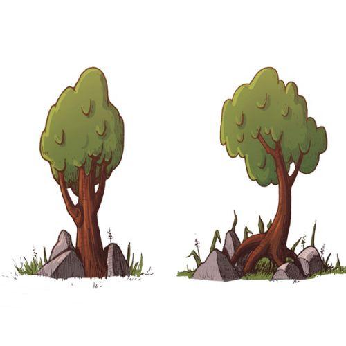 Digital art of tree