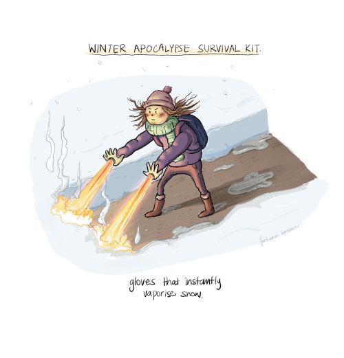 融雪手套漫画