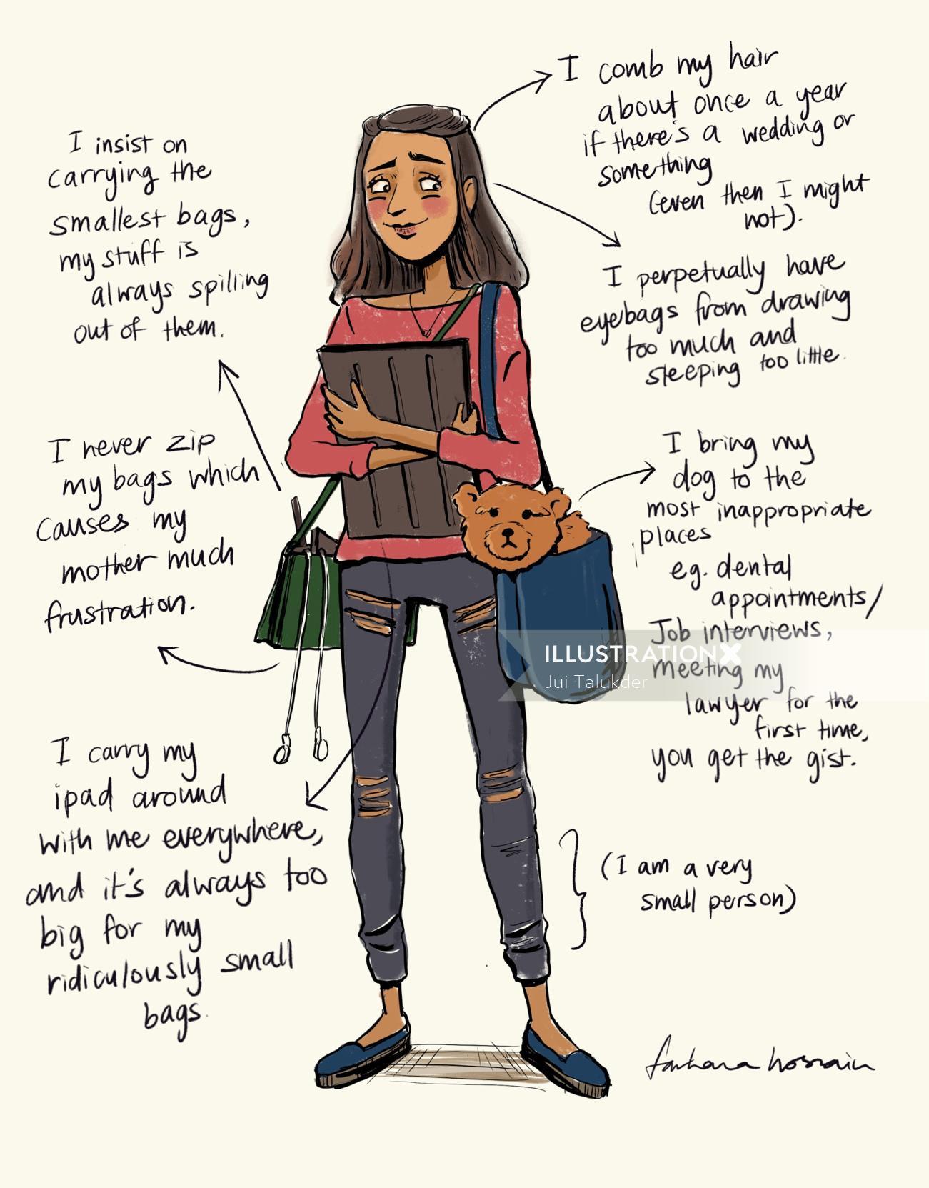 Humorous Self portrait of Farhana Hossain