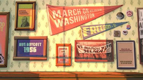 政治海报画框