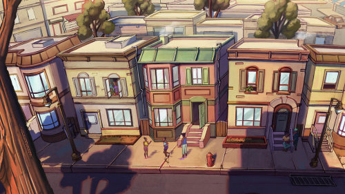 Jui Talukder 的建筑街景插图