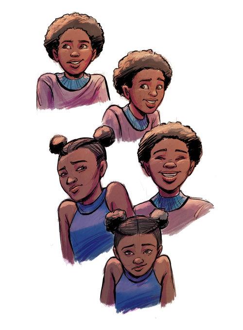 Jui Talukder 的男孩和女孩角色设计