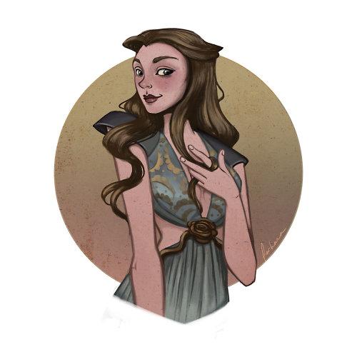 卷发女人的肖像