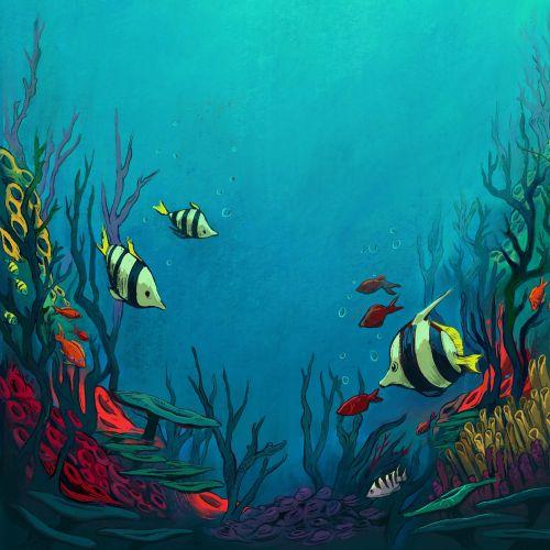 Underwater Sea painting