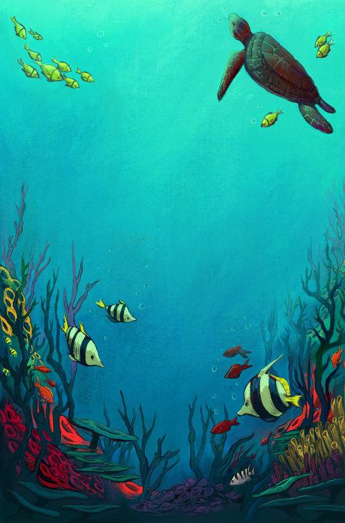 水下海绘画