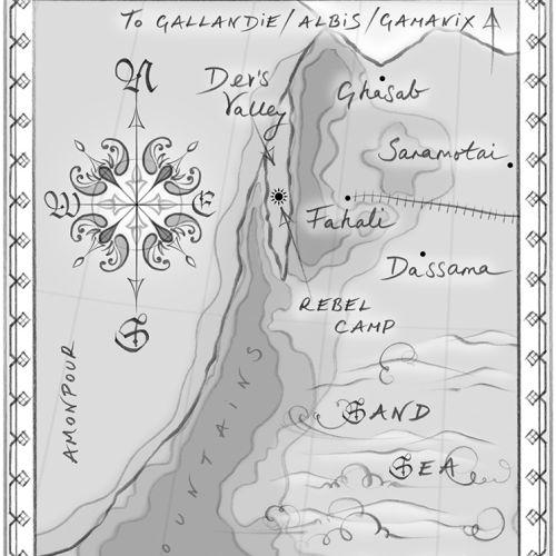 map, fantasy novel, Middle East, hand drawn, pencil sketch