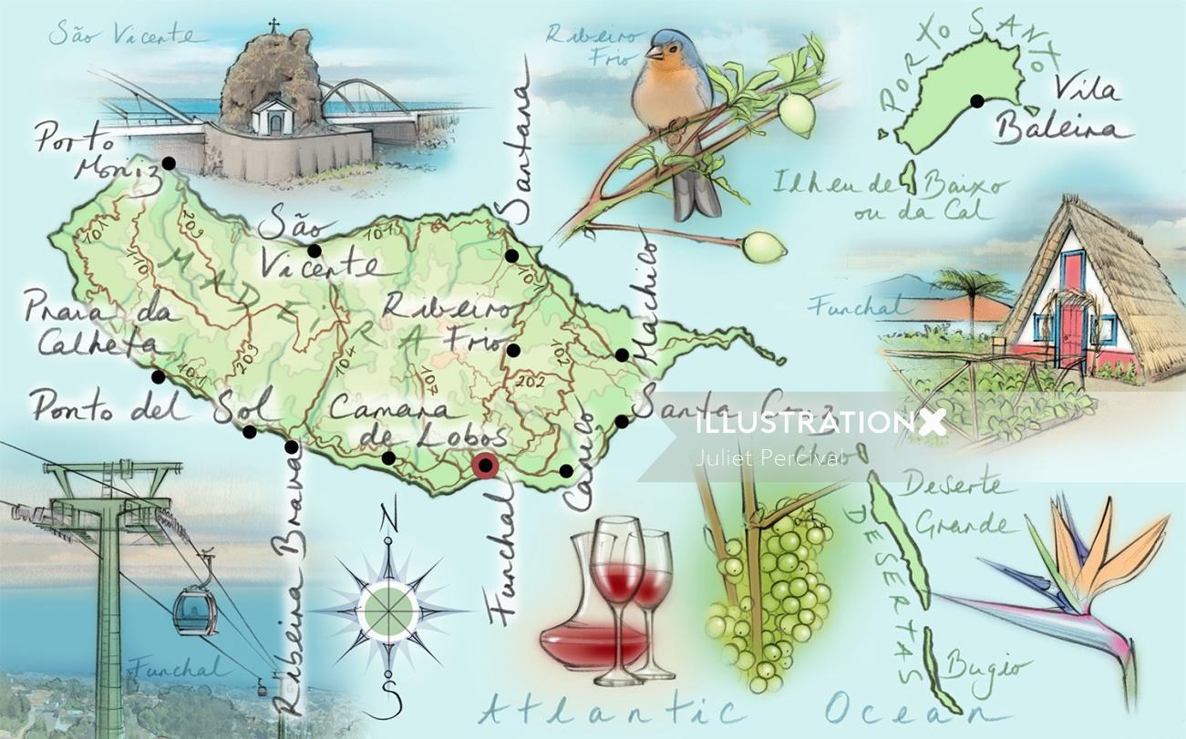 Madeiera, driving route, Funchal, Ribeiro Frio