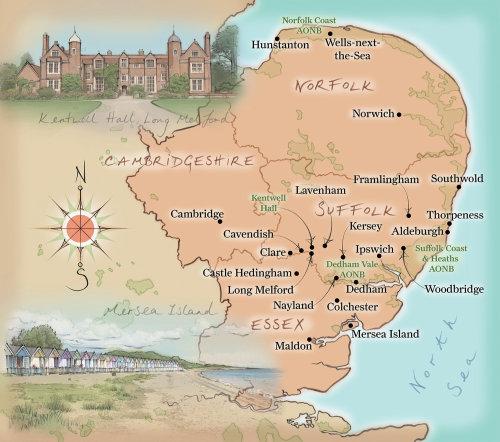 Cambridge, Norfolk, coast, north sea, essex, suffolk, compass