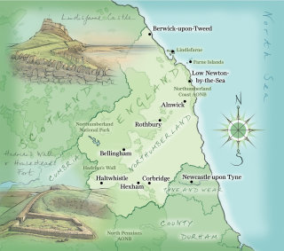 Lindisfarne, Hadrian's Wall, Housesteads Fort, hand drawn, traditional, cumbria, tyne and wear