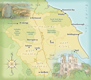 moors, York Minster, cathedral, dales, national parks, hand drawn, cartography