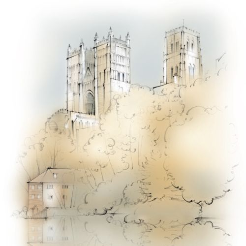 Architectural sketch of Durham Cathedral