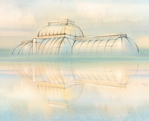 glass house, architecture, Kew Gardens, palm house
