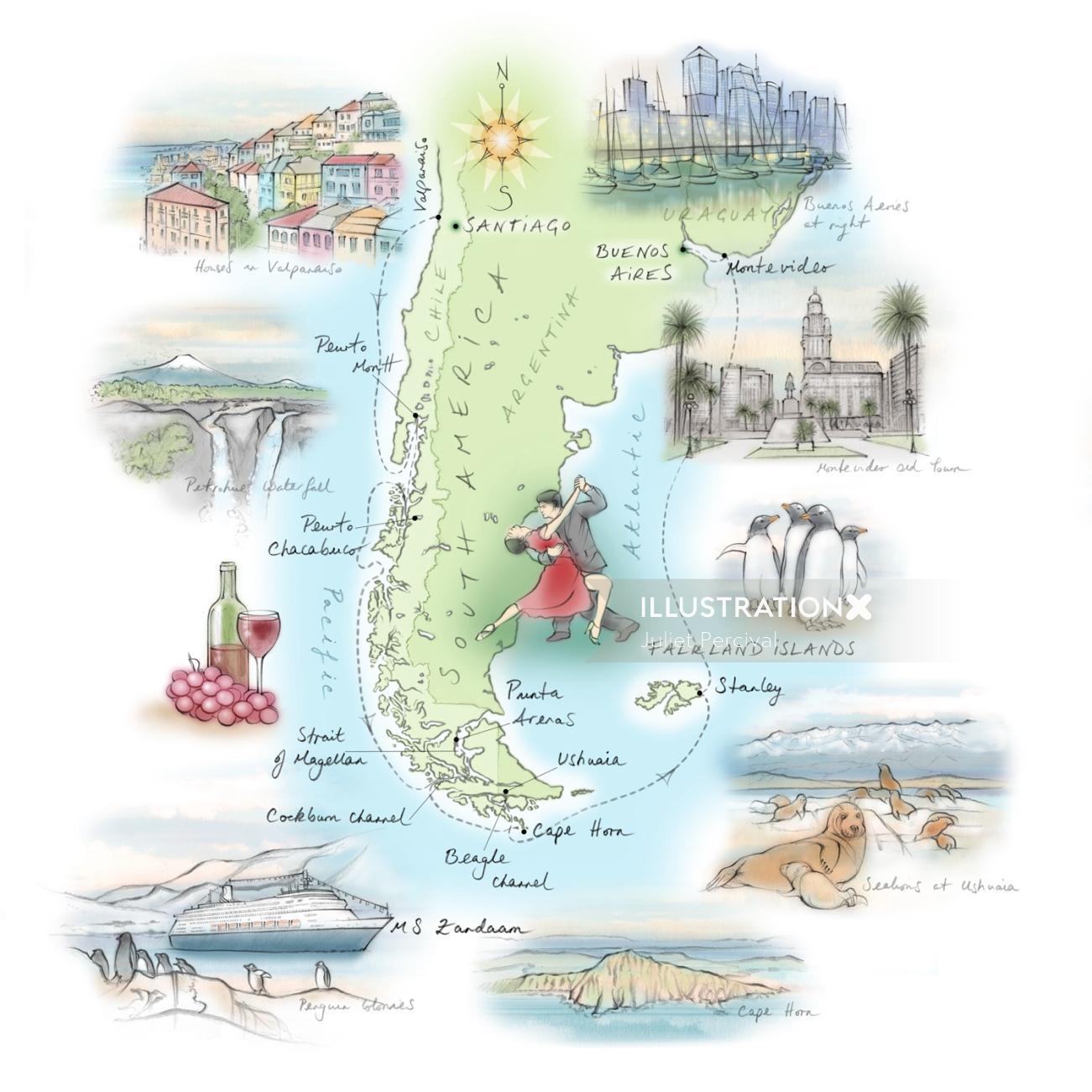 Such America, Cape Horn, Santiago,  Buenos Aires