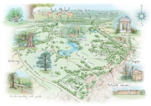 National Trust, Perworth Mansion, rotunda, temple. deer park