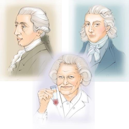 man, woman, face, portrait, sketch, pencil, scientist