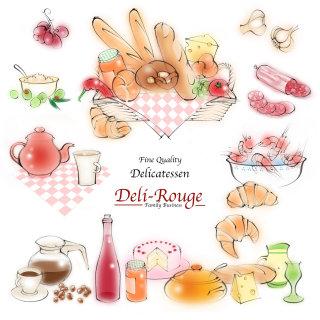 deli, menu, food, prawns, cake, bread, croissants, tapas