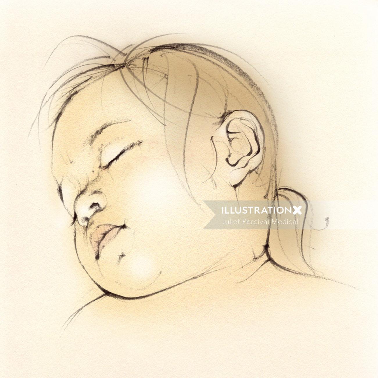 baby girl, toddler, sleeping