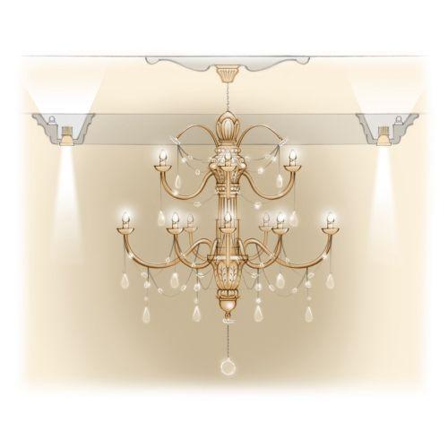 Chandelier, crystals, teardrops, illumination, product design, lighting