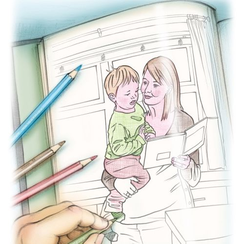 pregnancy, coloured pencil, toddler, colouring book, line, colour
