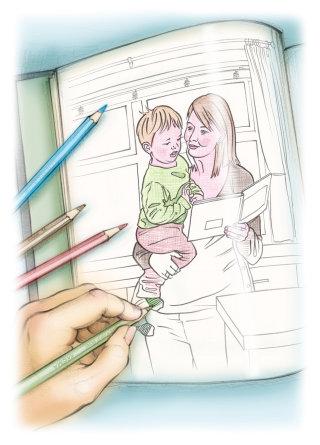 pregnancy, coloured pencil, toddler, colouring book, line, colour
