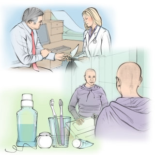 leukaemia patient, hair loss, bald, doctor