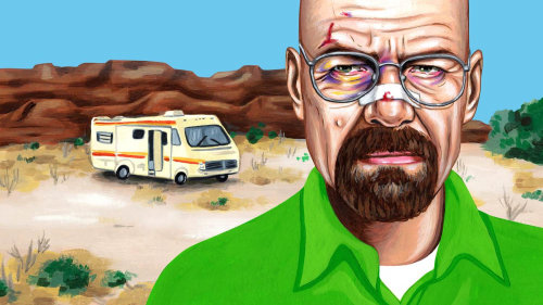Painting of Walter White for The Ringer