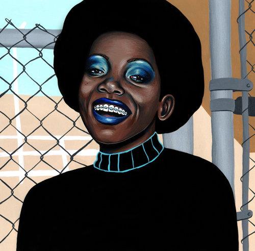 Retrato de mulheres negras americanas