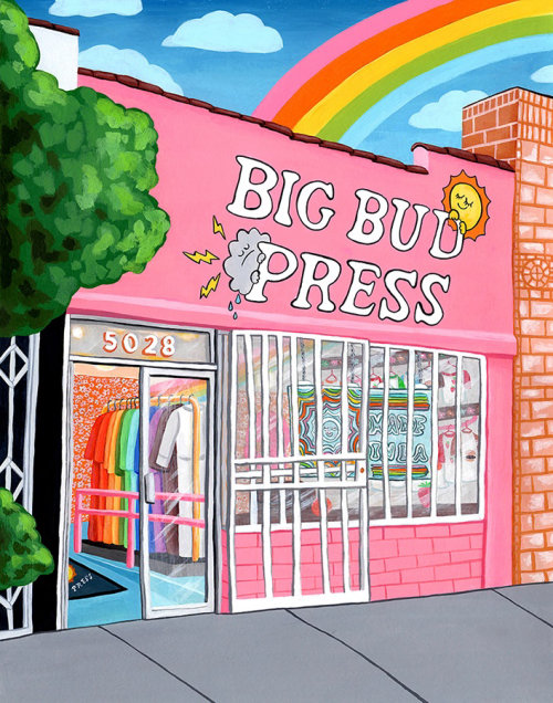 Big Bud Press shop painting