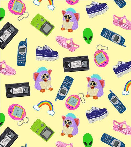 Ilustração gráfica de brinquedos para crianças