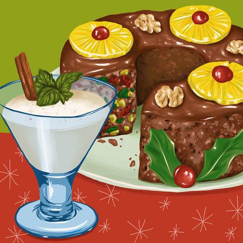 Ilustração de comida por Juliette Toma