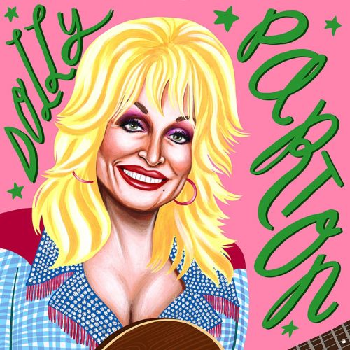 Dolly Parton portrait art