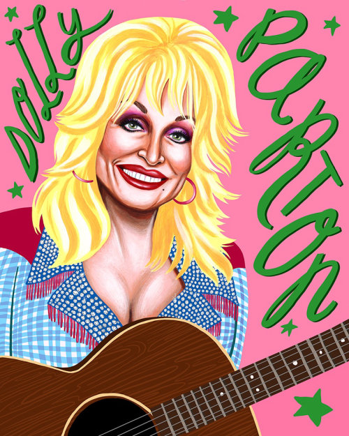 Art portrait Dolly Parton