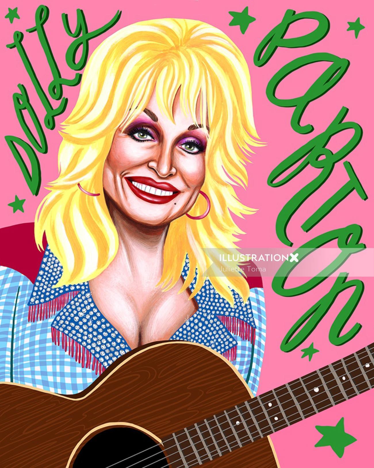 Dolly Parton portrait art