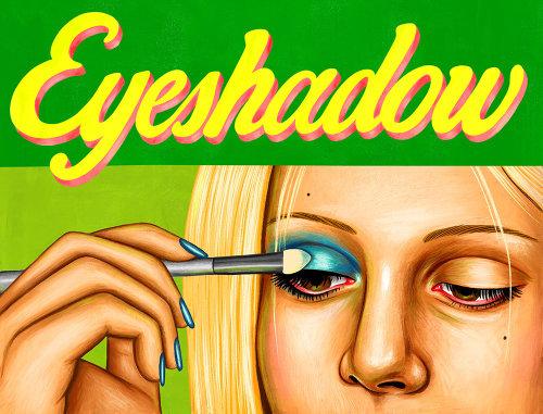 Ilustração de moda da sombra para os olhos
