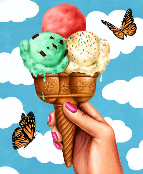 Digital painting of ice cream