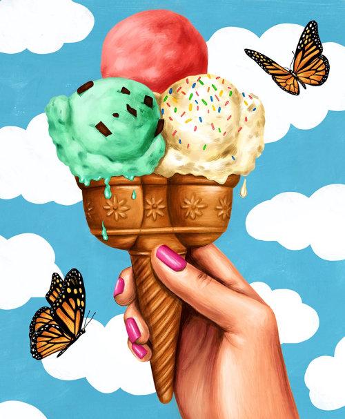 Pintura digital de sorvete