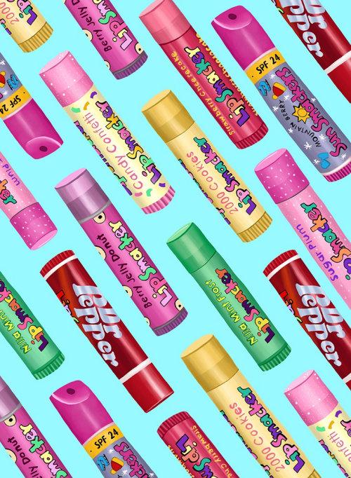 Ilustração de embalagem do Lip Smacker