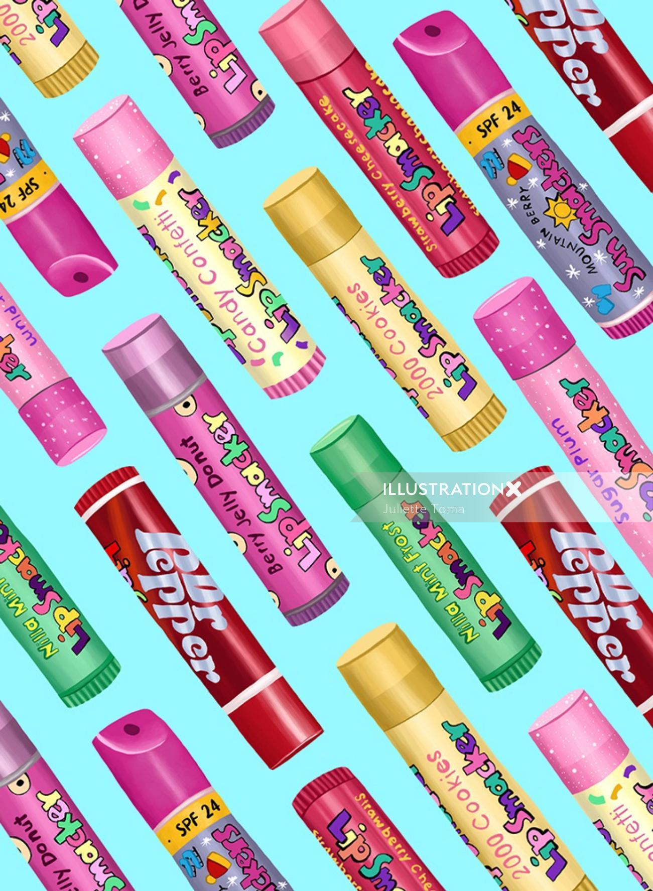 Packaging illustration of Lip Smacker