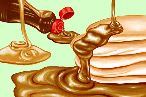 Illustration of maple syrup for Lucky Peach