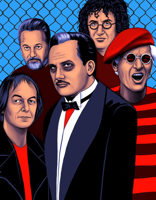 The Damned poster art for Record Magazine