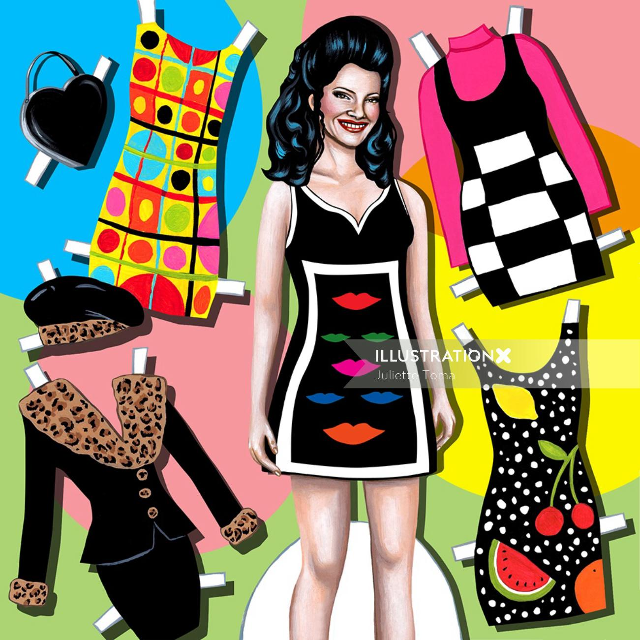 Fashion illustration by Juliette Toma