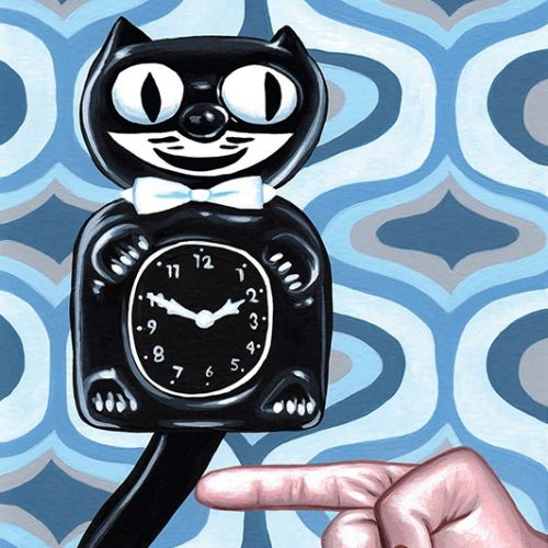 Toy wall clock drawing