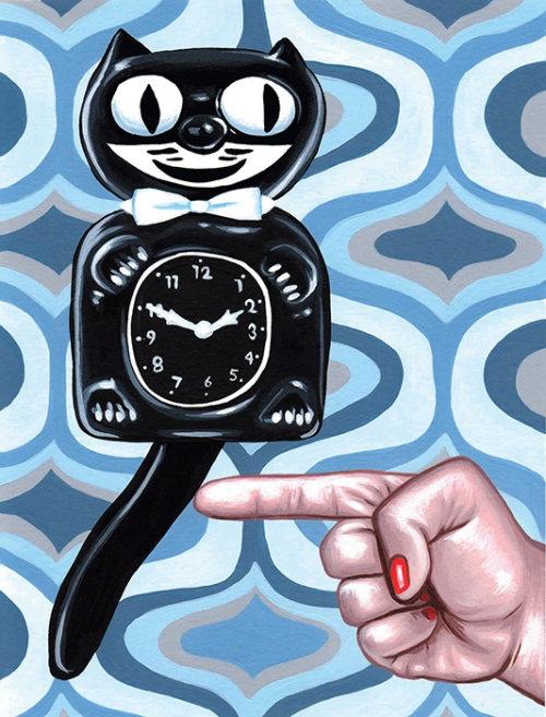 Desenho de relógio de parede de brinquedo